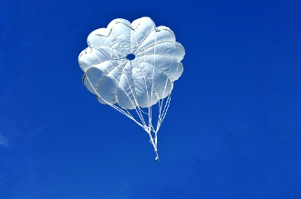 Military Grade Nylon Parachute (Medium Weight Canopy) (56 Inch)
